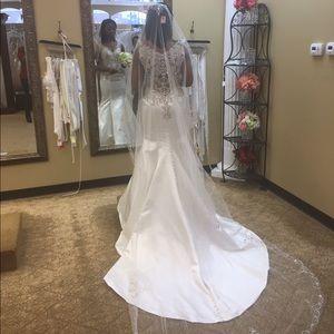 Off white lace wedding dress